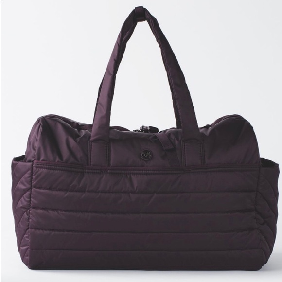 lululemon athletica Handbags - Lululemon Get Lost Duffle Black Cherry OS